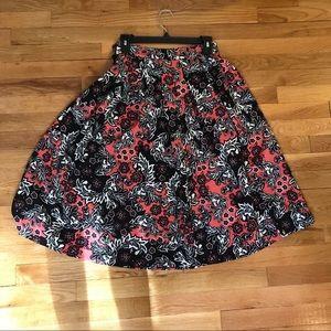 Floral skirt, midi length